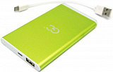 POWER BANK 4000 МАН GP-4.0 GN 4000MAH (GREEN) С LED ФОНАРИКОМ GC