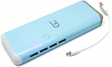 POWER BANK 10000 МАН GP-10.0 BE BLUE 4USB С LED ФОНАРИКОМ GC